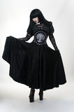вампир черной девушки платья готский Стоковое фото RF