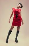 вампир черной девушки платья готский Стоковое Изображение