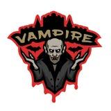 Вампир, эмблема на темной предпосылке бесплатная иллюстрация