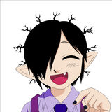 Вампир Manga вектора Стоковая Фотография RF