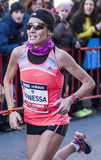 Ванесса Veiga, Mitja Marato Granollers Стоковое Изображение RF