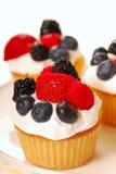 ваниль пирожнй ягод свежая стоковые фотографии rf