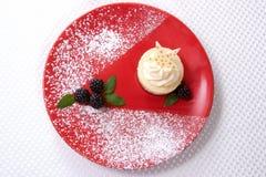 ваниль cheesecake фасоли стоковое фото