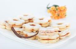 Ванильные печенья варенья сандвича Стоковое Изображение RF