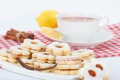 Ванильные печенья варенья сандвича Стоковые Изображения