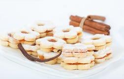 Ванильные печенья сандвича Стоковое Изображение RF