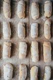 Ванильные полумесяцы перед печь Крены ванили Кашевар печенья крена Стоковое Фото