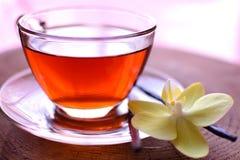 Ванильный черный чай стоковое фото rf