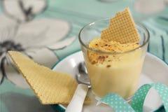 Ваниль десерта и сливк миндалины Стоковые Изображения