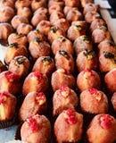 Ваниль и розовые печенья Стоковые Фотографии RF