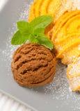 Ваниль Spritz печенья с мороженым Стоковое Изображение RF
