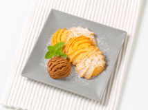 Ваниль Spritz печенья с мороженым Стоковая Фотография