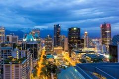 Ванкувера городской пейзаж ДО РОЖДЕСТВА ХРИСТОВА на сумерк Стоковая Фотография RF
