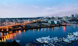 Ванкувер городской на зоре Стоковая Фотография