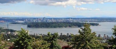 Ванкувер, Канада: Парк и центр города Стэнли Стоковые Изображения RF
