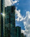 Ванкувер Канада - 14-ое мая 2017, архитектура и здания внутри к центру города Стоковое Изображение