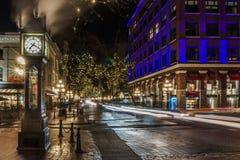 Ванкувер, Канада - 14-ое января 2017 Gastown, улица воды стоковое изображение