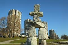 Ванкувер Inukshuk Стоковое Изображение RF