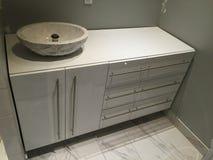 Ванная комната лака дизайна белая Стоковые Изображения RF