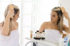 ванная комната белокурая Стоковое Изображение
