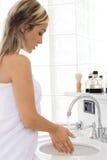 ванная комната белокурая Стоковая Фотография
