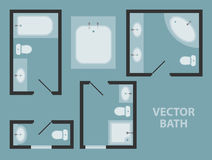 Ванная комната вектора Стоковое Изображение