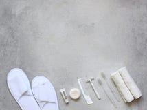 ванная комната вспомогательного оборудования Набор перемещения с вами Стоковое Изображение RF