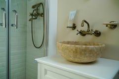 Ванная комната гостиницы Стоковое Изображение RF