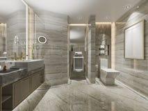 ванная комната и туалет современного дизайна перевода 3d роскошная Стоковое фото RF
