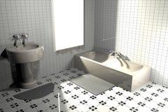 Ванная комната, перевод 3d Стоковая Фотография