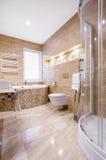 Ванная комната песчаника с ванной Стоковые Изображения RF
