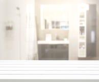 Ванная комната столешницы и нерезкости предпосылки Стоковые Изображения RF