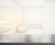 Ванная комната столешницы и нерезкости предпосылки Стоковое Фото