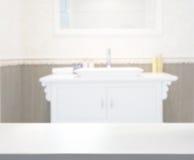 Ванная комната столешницы и нерезкости предпосылки Стоковая Фотография RF