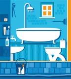 Ванная комната с туалетом Иллюстрация штока