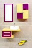 ванная комната цветастая Стоковое Изображение