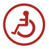 Ванная комната для людей с инвалидностью, неработающий туалет, ванная комната подписывает Стоковая Фотография RF