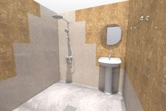 ванная комната 3D представляет Стоковые Фотографии RF