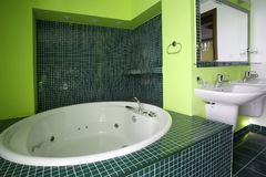 ванная комната greeen Стоковая Фотография