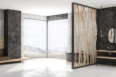 Ванная комната Mdoern с Mountain View Бесплатная Иллюстрация