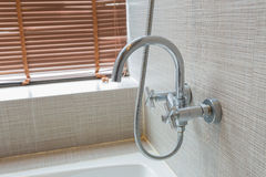 Ванна в ванной комнате Стоковое фото RF