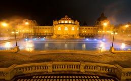 Ванна курорта Szechenyi, Будапешт, Венгрия стоковые изображения