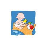ванна младенца Стоковые Фото