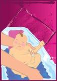 ванна младенца иллюстрация штока