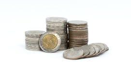Ванна монетки тайская изолированная на белой предпосылке Стоковое Фото