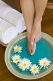 ванна цветет травы ноги Стоковое Фото