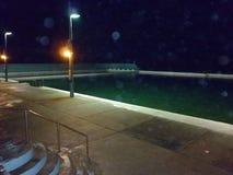 Ванны Ньюкасл светом ночи Стоковая Фотография RF
