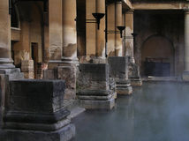 ванны римские Стоковые Изображения RF