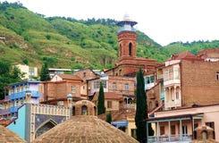 Ванны серы городка Тбилиси Georgia старые стоковые фото