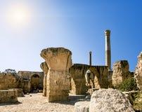 Ванны Antonius в Картагое Тунисе Стоковая Фотография